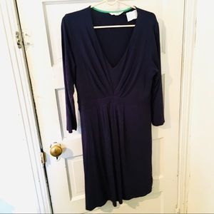 Boden Navy blue knit dress size 12L wrap v neck